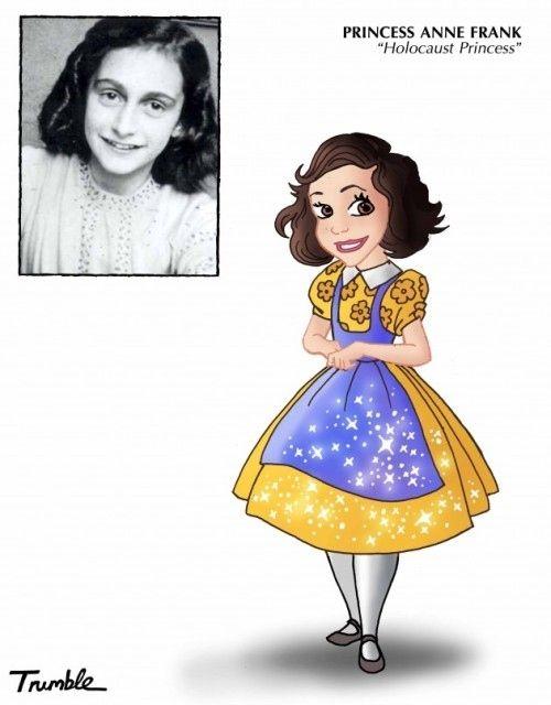 Anne Frank / If Rosa Parks And Hillary Clinton Were Disney Princesses via Artist David Trumble (via BuzzFeed)