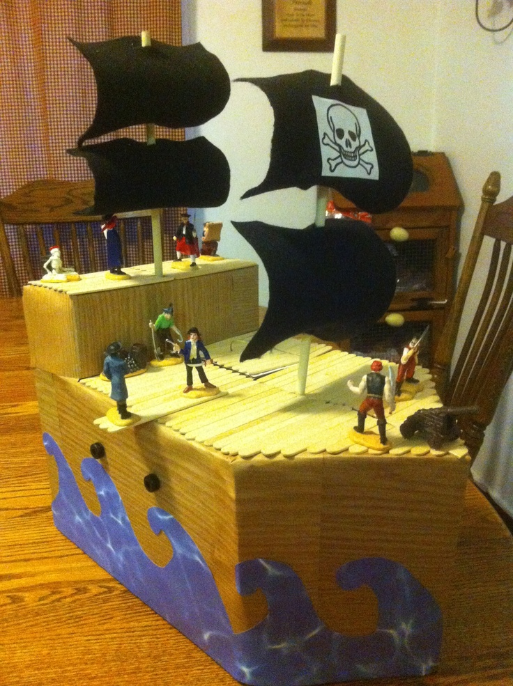 pirate ship valentine's day box