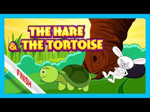 The Hare and The Tortoise Story | Bedtime Story by Kids Hut | English Stories For Kids - YouTube