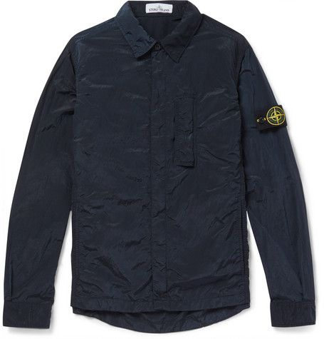 There ain't no thang like a Stone Island Garment-Dyed Shell Shacket!