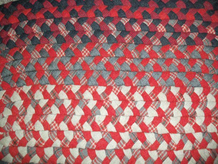 Vintage Wool Braided Rug, Red, Gray, Black, Oval 27x45 | Vintage Wool, Gray  And EBay