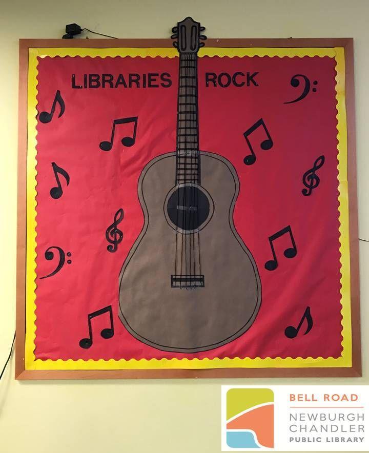 Libraries Rock Summer Reading Program Library Bulletin Board