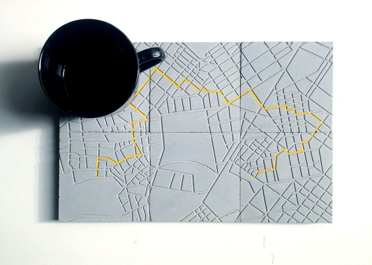The creative duet A Future Perfect, from the #Campana Brothers #workshop, transformed #Athens' & Stockholm's center #maps into a three-dimensional everyday use object, the #coaster! #design #art