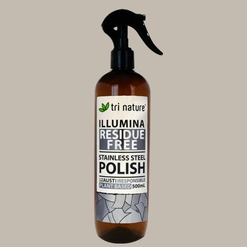 Illumina - Stainless Steel Polish - A highly concentrated conditioning lotion designed specifically to polish stainless steel surfaces, leaving the surface sparkling clean with a rich protective lustre.  •            Ideal for use on all stainless steel surfaces, including cook tops and appliances. •            Essential deep penetrating oils maximise shine and resist further soiling and smudging. •            Makes cleaning effortless - Simple to spread, Easy to buff…