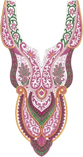 Latest A-Z Neck Embroidery Design 2012 - Embdesigntube
