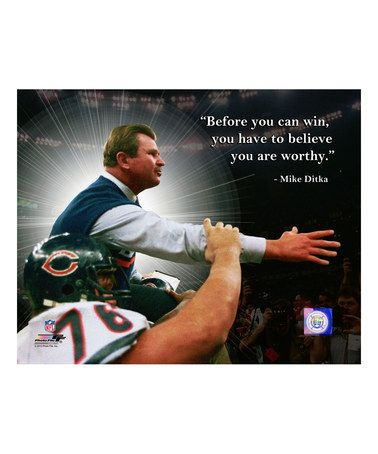 Chicago Bears Mike Ditka Quote Wrapped Canvas #zulily #zulilyfinds
