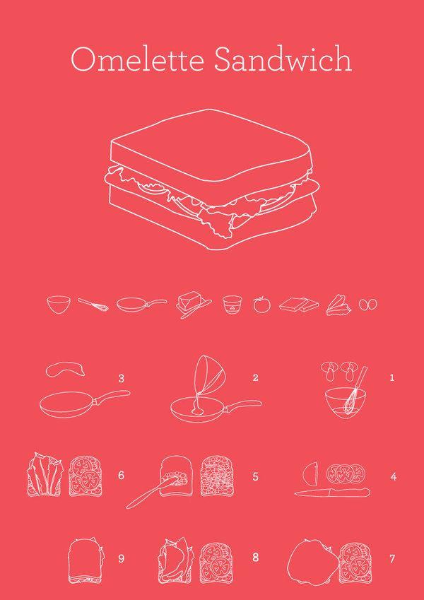 INFOGRAPHICS / Omelette Sandwich byYana Segal