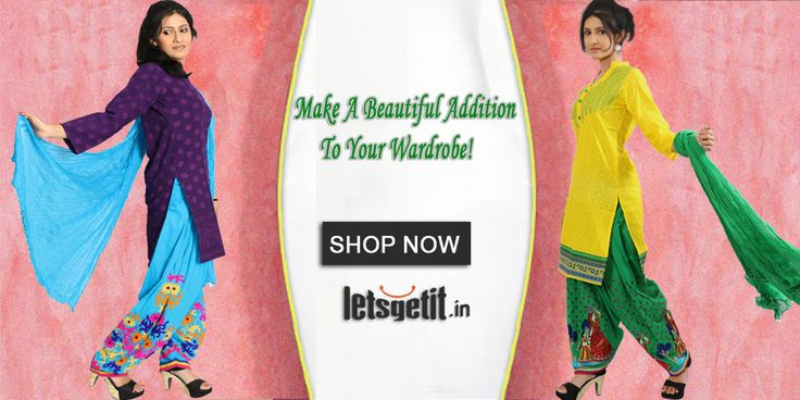 Express Your Style in Our Range of Online #Ladies_Clothes  Kurtis | Salwar Dupatta | Patiala  START SHOPPING >> www.letsgetit.in