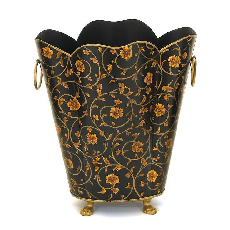 Traditional Waste Paper Bin / Waste Paper Basket - The Scroll Bin - Metal