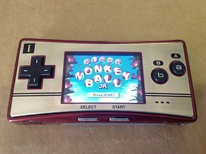 Nintendo Gameboy Micro Special 20th Anniversary Edition Red Gold System Game