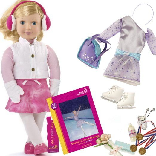 Amazon.com: Our Generation Katelyn And inches Blizzard on Moose Moutain inches Deluxe Doll Set With Poseable 18 inches Doll And Chapter Book...