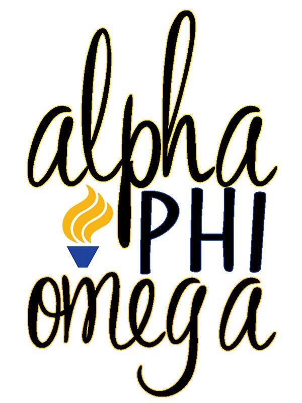 Alpha Phi Omega Script by katiefarello | $3
