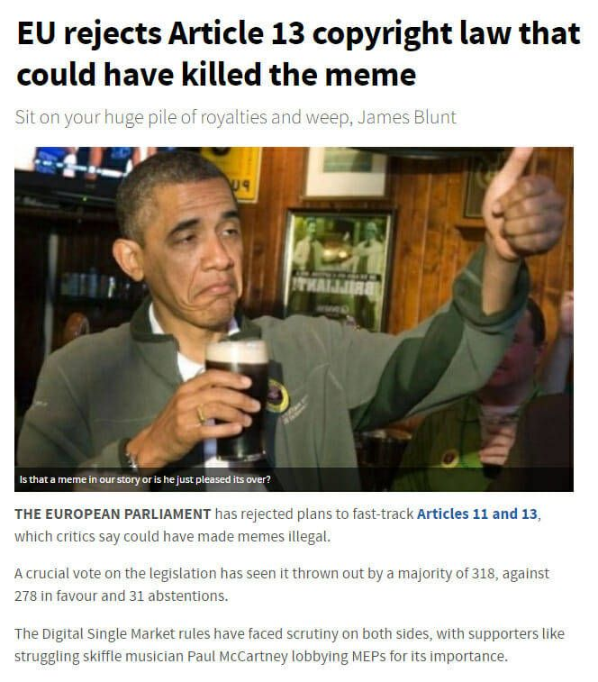Memes In The Eu Are Saved Memes Fast Track Save