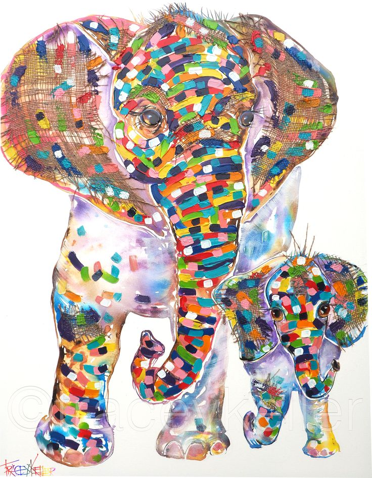 Mom and Me elephant painting tracey keller