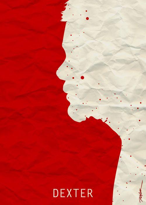 Dexter (2006–2013) ~ Minimal TV Series Poster by Reha Akar #amusementphile