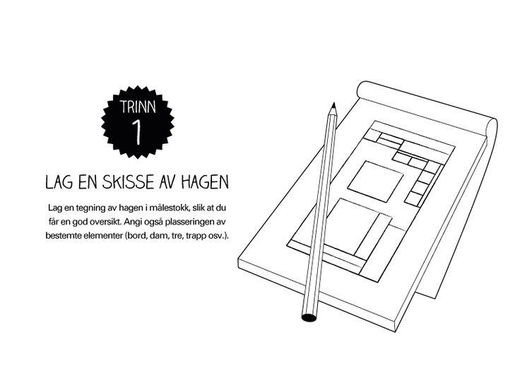 Lysplan trinn 1: Lag en hageskisse