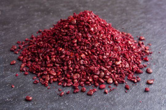 Sumac in Your Spice Cabinet http://www.thekitchn.com/heres-why-you-should-have-sumac-in-your-spice-cabinet-ingredient-intelligence-67042