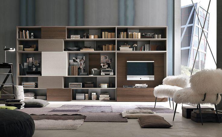 Composizione C150 parete attrezzata per il #soggiorno moderno | gruppotomasella.it
