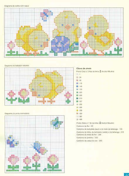 Schema punto croce Farfalline Pulcino
