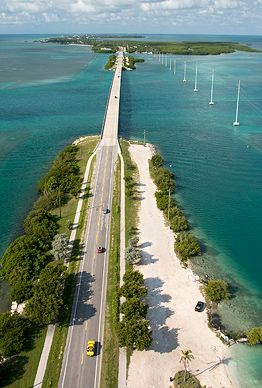 Spanning more than 100 miles, Florida's Overseas Highway is actually the largest segmented bridge in the world, crossing the water in 42 places as it hops across the 1,700 islands of the Florida Keys. (Andy Newman/Florida Keys News Bureau/HO) (From: America's Most Spectacular Drives)