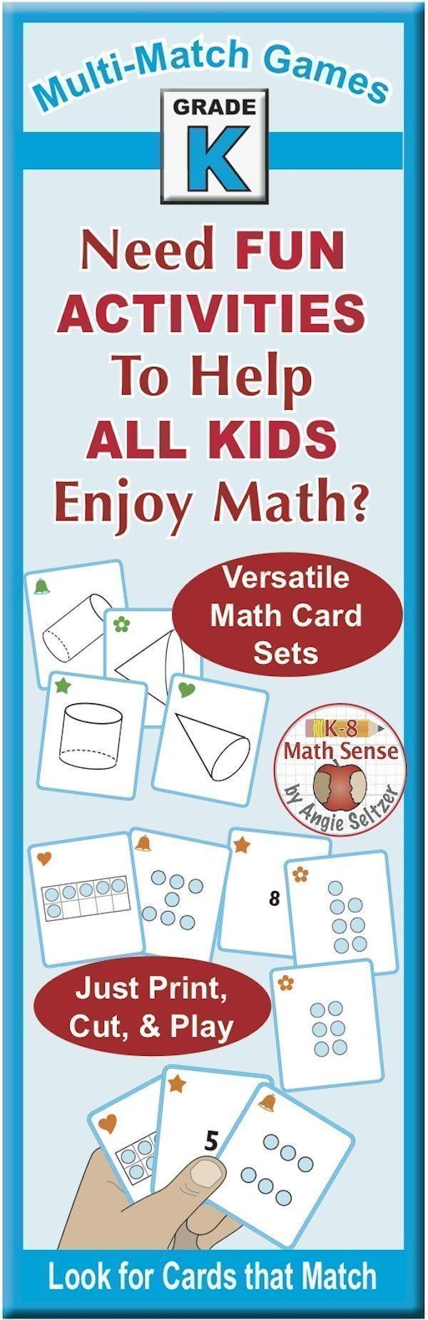 BONUS BUNDLE Kindergarten MultiMatch Math Games for