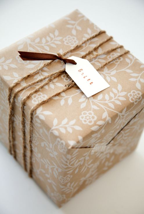 PlaceOfMyTaste: 8 SIMPLE GIFT WRAPPING IDEAS WITH BROWN PAPER