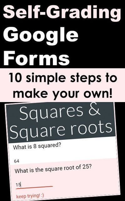 10 simple steps to create a self-grading Google Form