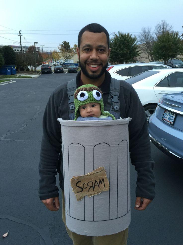 Baby carrier costume. Oscar the grouch. Halloween costume