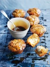 carrot cake muffins with spiced honey glaze