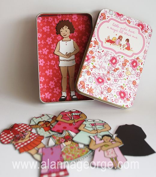 DIY Magnetic Paper Doll Tin - so cute for a little girl and easy and cheap to make! #Crafts #DIY #GIFT
