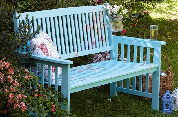 25 best ideas about painted benches on pinterest for Painted benches outdoor
