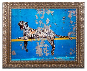 'Bronx Zoo' Ornate Framed Canvas Art by Banksy - traditional - Fine Art Prints - Trademark Global