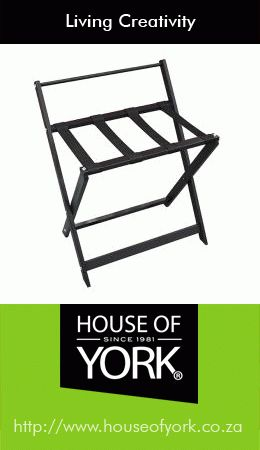 House of York has quality luggage racks for your hotel, guest house and bed and breakfasts. This one has a back rest that can double as a towel railing. #luggagerack