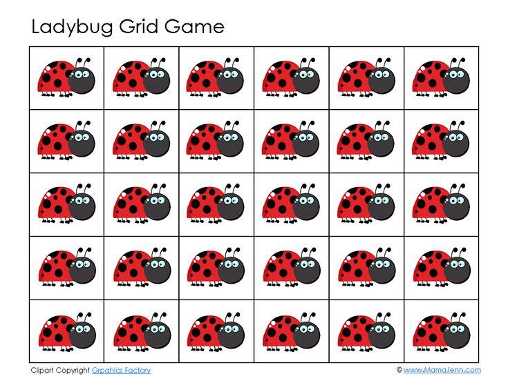 Ladybug Grid Game