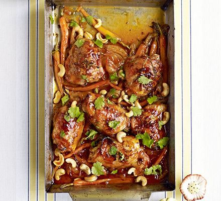 Ditch the takeaway and try a traybake full of delicious Chinese flavours instead. It takes just minutes to throw together this alternative sweet and sour chicken dish
