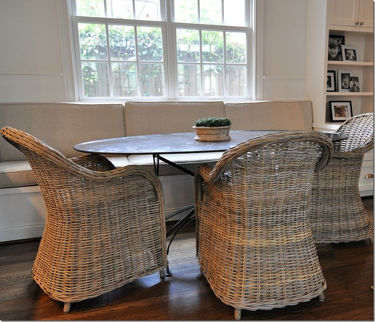 No More Granny Wicker Cote De Texas. Find This Pin And More On Dining Room  Ideas By CBIDdesign. Oval Metal Table ...