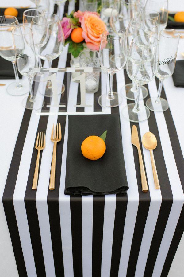striped modern wedding - photo by Krista Mason Photography http://ruffledblog.com/retro-modern-wedding-in-palm-springs