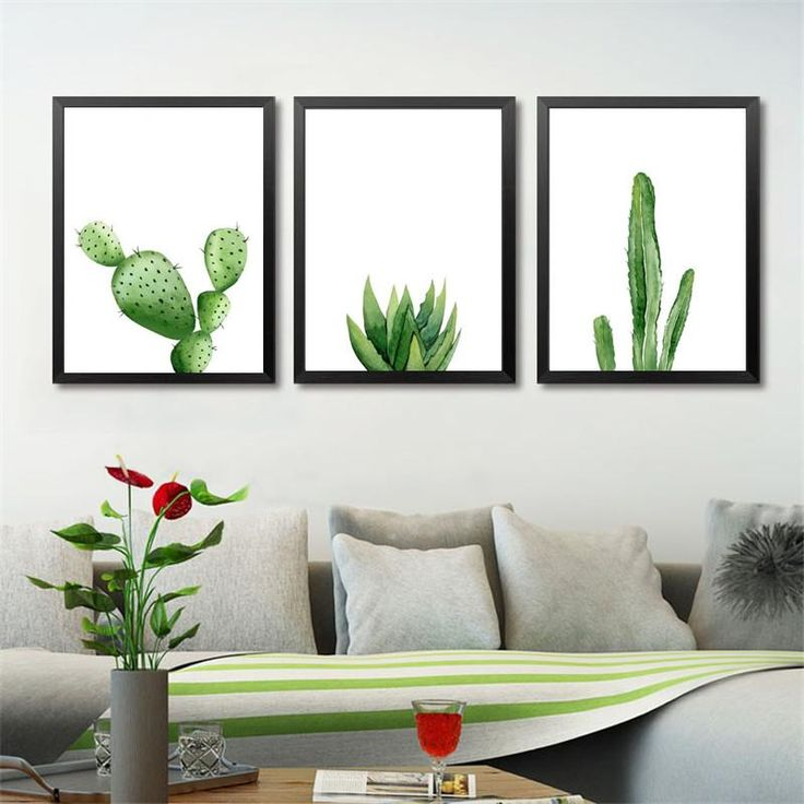 Green Plants Canvas Art Print Poster, Cactus Set Wall Pictures for Home Decoration, Giclee Wall Decor YT0046 #walldecor #interiordesigner #homedecor #wallartprints #artdecor #artprint #canvasphotoprints #wallartdecor #wallpainting