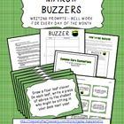 """This is a great classroom management tool! I love having a few minutes to take attendance before jumping in to class. Buzzers work like bell work or journal writing, with a little twist. The """"Buzzer"""" is the writing prompt. This packet includes 30 prompts, so you can be picky and choose the ones you like best since there are extras. On Monday, students are given what I call a Buzzer form. I keep them either in their student folders, or in a specified location in the room. $4"""