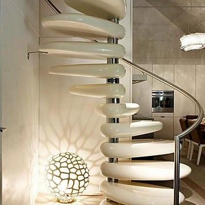 ESCALERAS ESPIRAL: Stones Step, Spirals Staircases, Polish Concrete, Stairs, Stairca Design, Inspiration Ideas, Rolls Stones, Stones Stairca, Step Stones