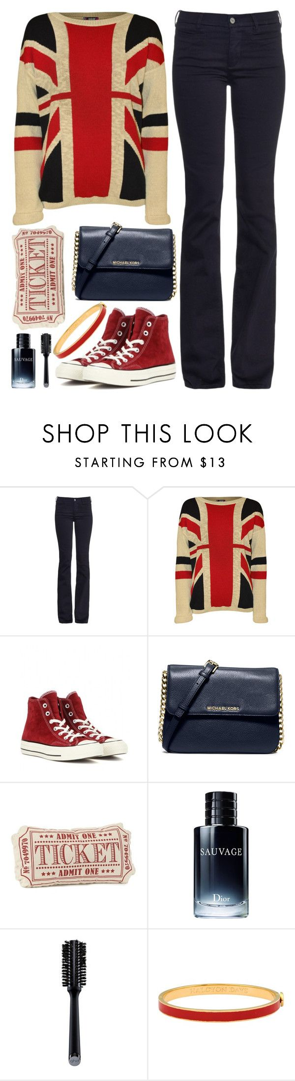 """""""Going to the Cinema"""" by saraishi ❤ liked on Polyvore featuring MiH, WearAll, Converse, MICHAEL Michael Kors, Christian Dior, GHD, Halcyon Days, women's clothing, women's fashion and women"""