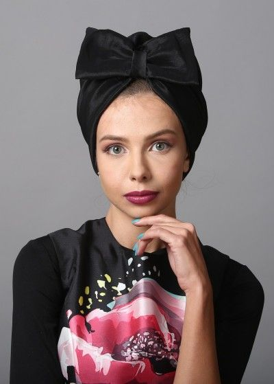 Bow Turban in Elegant Black