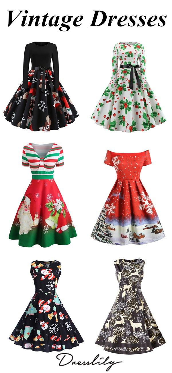 Christmas Vintage Dresses Up To 50 Off Free Shipping