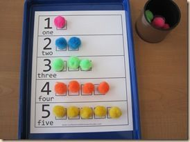 PreK Numbers, Shapes, Colors Review (lots of different activities and links to printables). (Pictured are 1-10 Number Sticker Sheets. Put stickers in each square or laminate it and re-use over and over with any manipulative of your choice.)