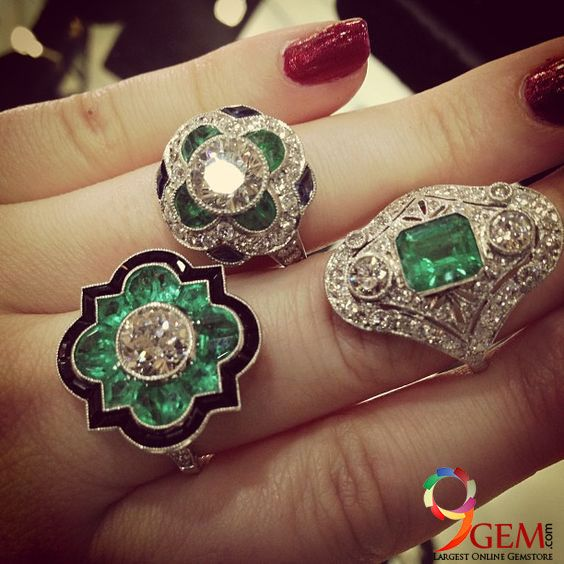 Buy this beautiful #Emerald #gemstone #rings with #gorgeous #style from http://9Gem.com #fashion #fashionblogger #elegant #lifestyle