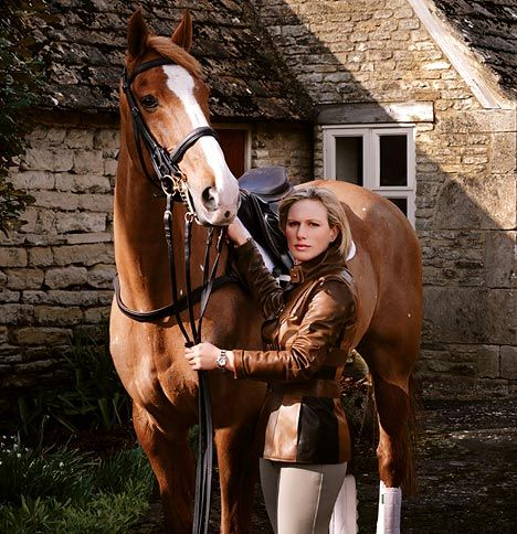 Famous faces- Zara Tindall (Phillips) Olympian and Granddaughter of the Queen of England.