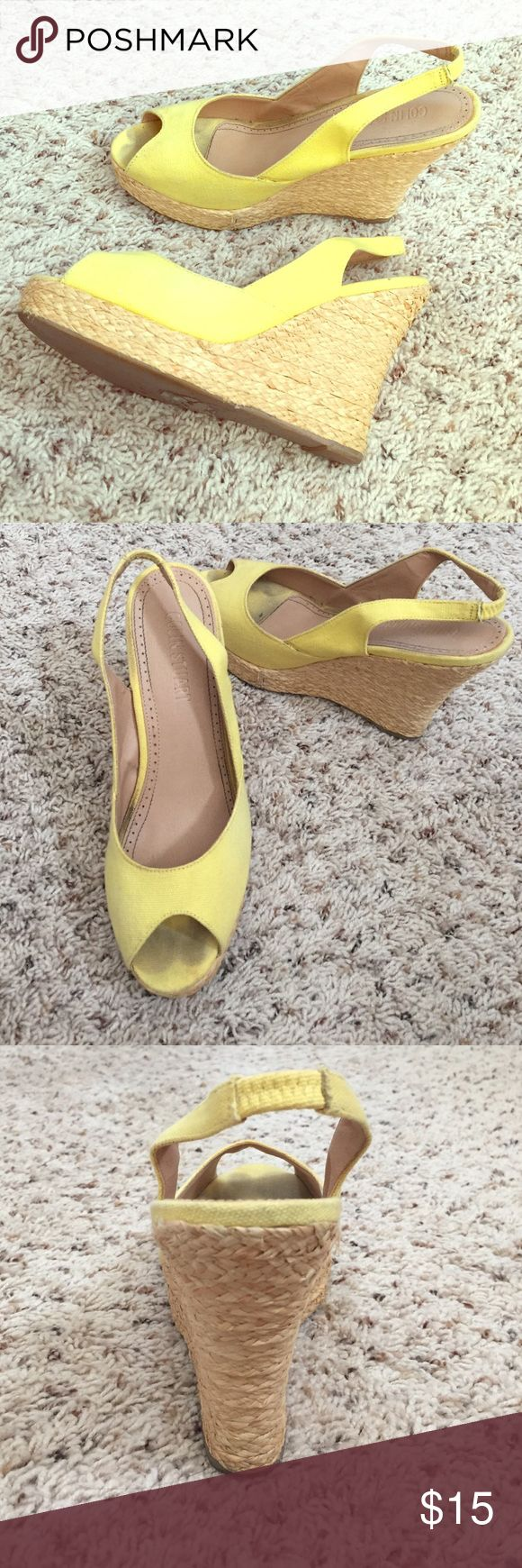Colin Stuart yellow espadrilles size 9 Colin Stuart yellow wedge espadrilles from Victoria secret. I believe they are a size 9. Some signs of wear but only worn a hand full of times. Still lots of love left in these. From a smoke free home. Colin Stuart Shoes Espadrilles