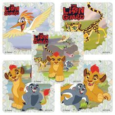 Sticker Pack - Lion Guard : Kion and Friends - Great for party favors or DIY favor bags