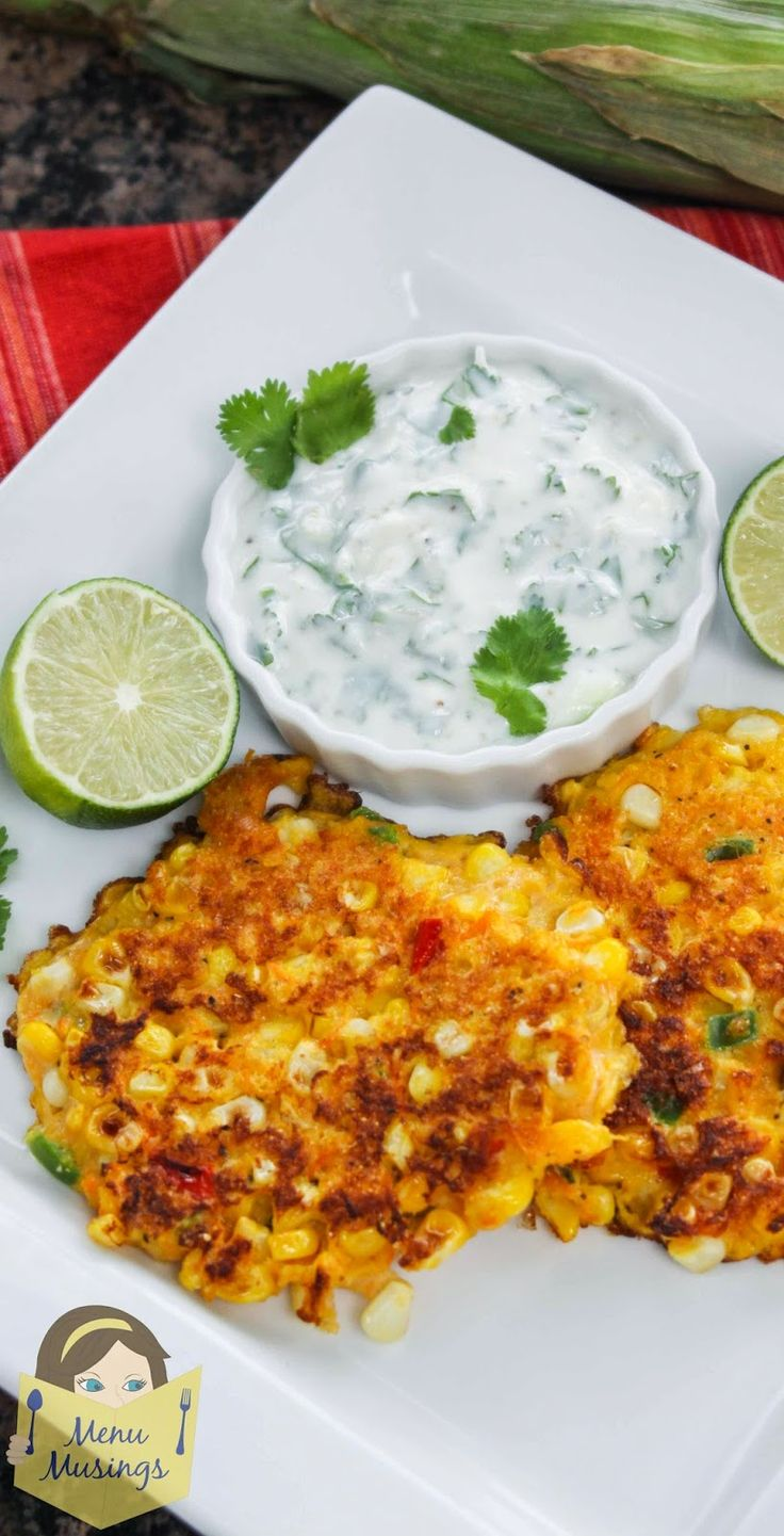 Corn Cakes with Cilantro Lime Cream #food #recipes #Indonesianfood http://livestream.com/livestreamasia