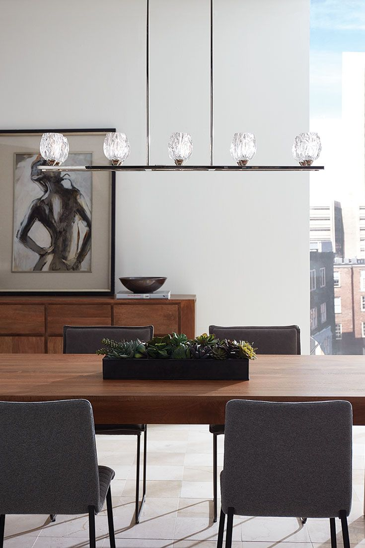 Oa oak dining room table phoenix - Rubin 10 Light Island Chandelier By Feiss The Clear Faceted Votive Glass Shades